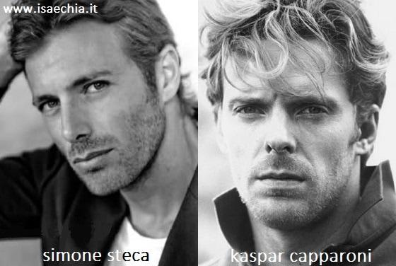 Somiglianza tra Simone Steca e Kaspar Capparoni