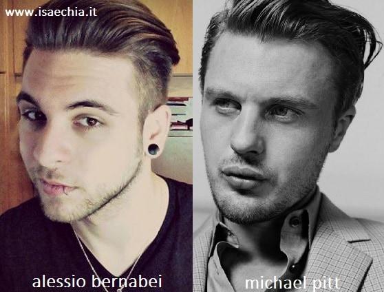 Somiglianza tra Alessio Bernabei e Michael Pitt