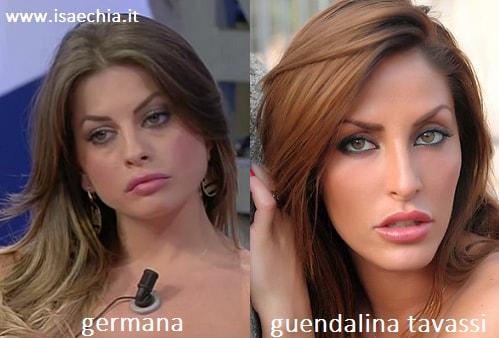 Somiglianza tra Germana e Guendalina Tavassi
