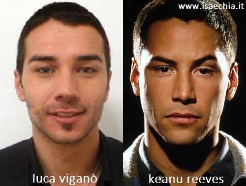 Somiglianza tra Luca Viganò e Keanu Reeves