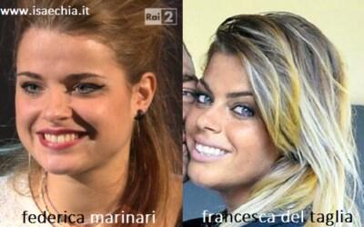 Somiglianza tra Federica Marinari e Francesca Del Taglia