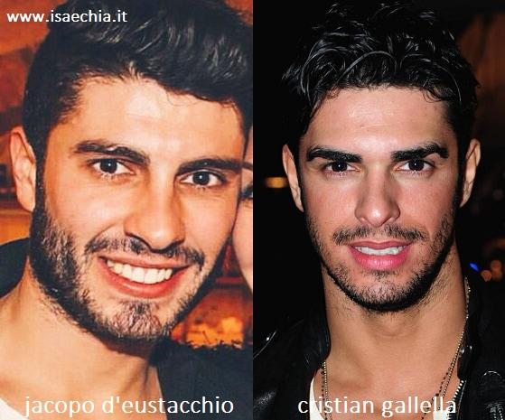 Somiglianza tra Jacopo D'Eustacchio e Cristian Gallella
