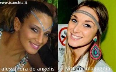 Somiglianza tra Alessandra De Angelis e Vittoria Magagnini