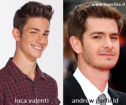 Somiglianza tra Luca Valenti e Andrew Garfield