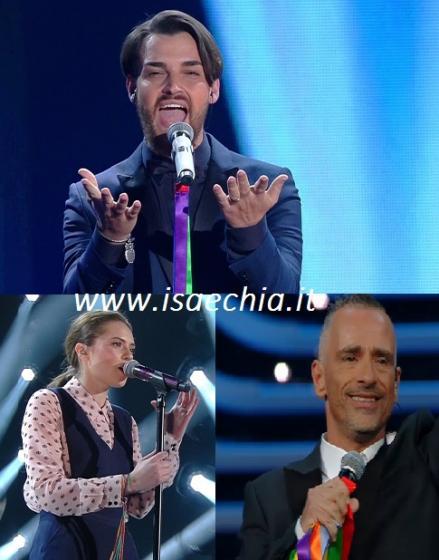 Valerio Scanu, Francesca Michielin e Eros Ramazzotti