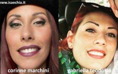 Somiglianza tra Gabriella Teodosio e Corinne Marchini