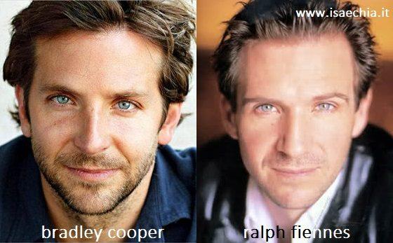 Somiglianza tra Bradley Cooper e Ralph Fiennes