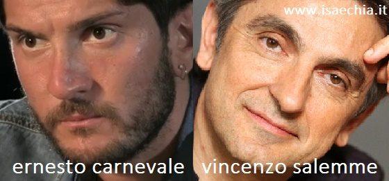 Somiglianza tra Ernesto Carnevale e Vincenzo Salemme