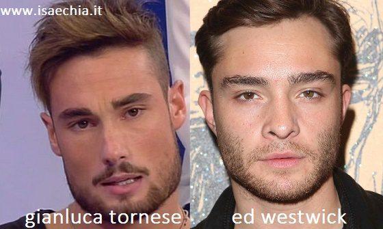 Somiglianza tra Gianluca Tornese e Ed Westwick