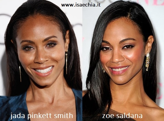 Somiglianza tra Jada Pinkett Smith e Zoe Saldana