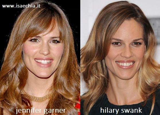 Somiglianza tra Jennifer Garner e Hilary Swank