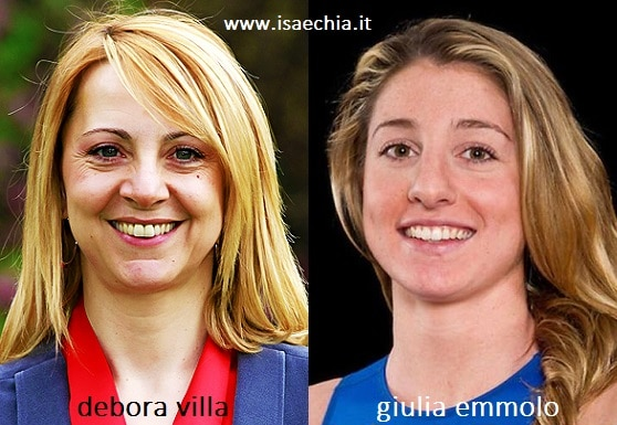Somiglianza tra Debora Villa e Giulia Emmolo