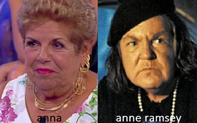 Somiglianza tra Anna e Anne Ramsey