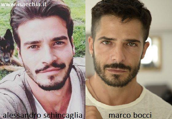 Somiglianza tra Alessandro Schincaglia e Marco Bocci