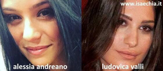 Somiglianza tra Alessia Andreano e Ludovica Valli
