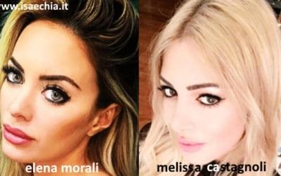 Somiglianza tra Elena Morali e Melissa Castagnoli