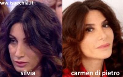 Somiglianza tra Silvia e Carmen Di Pietro