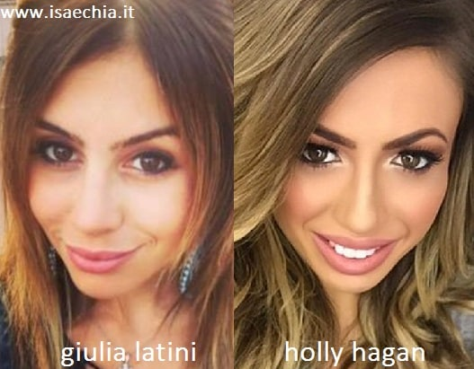 Somiglianza tra Giulia Latini e Holly Hagan
