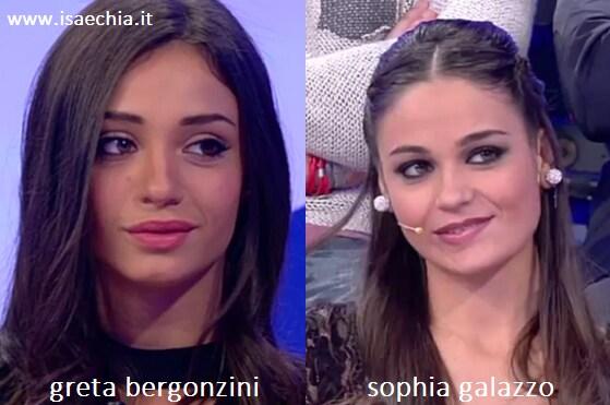 Somiglianza tra Greta Bergonzini e Sophia Galazzo