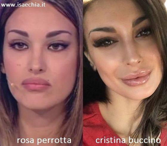 Somiglianza tra Rosa Perrotta e Cristina Buccino