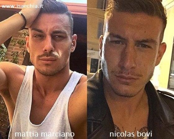 Somiglianza tra Mattia Marciano e Nicolas Bovi