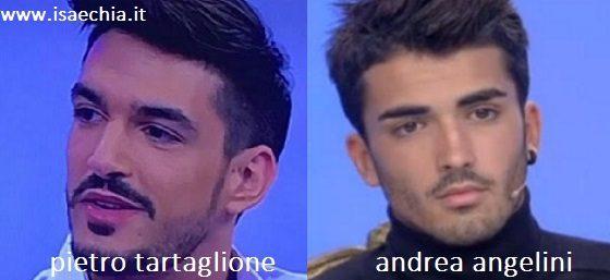 Somiglianza tra Pietro Tartaglione e Andrea Angelini