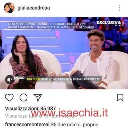 Instagram - Giulia de Lellis e Andrea Damante