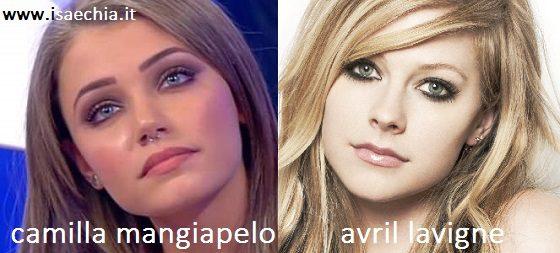 omiglianza tra Camilla Mangiapelo e Avril Lavigne