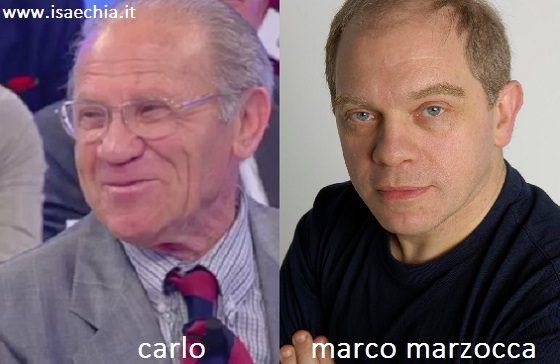 Somiglianza tra Carlo e Marco Marzocca
