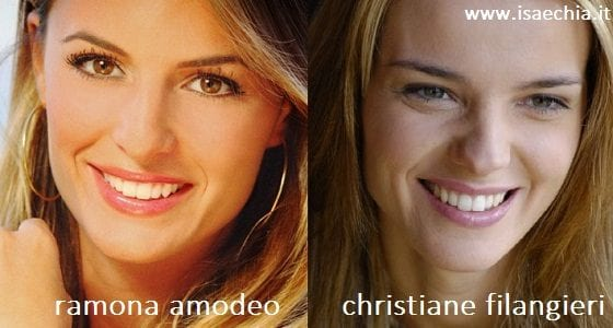 Somiglianza tra Ramona Amodeo e Christiane Filangieri