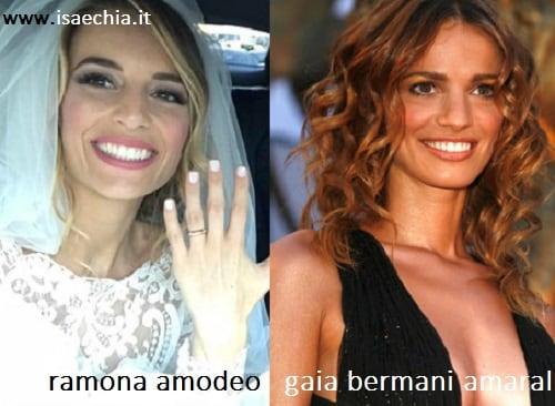 Somiglianza tra Ramona Amodeo e Gaia Bermani Amaral
