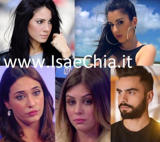 Giulia DE Lellis, Valentina Vignali, Sonia Lorenzini, Giulia Latini e Mario Serpa