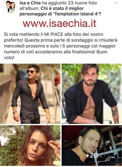 Facebook - Sondaggio TI