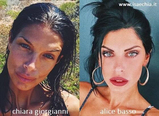 Somiglianza tra Chiara Giorgianni e Alice Basso