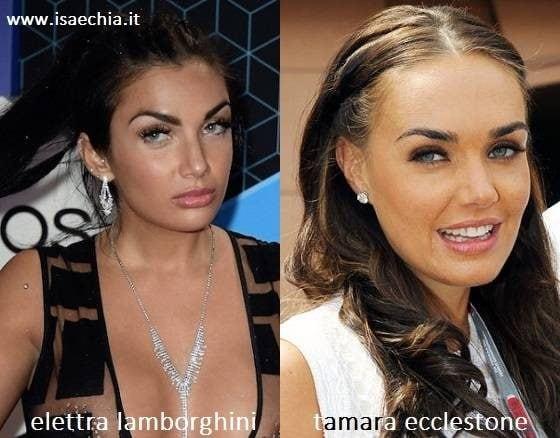 Somiglianza tra Elettra Miura Lamborghini e Tamara Ecclestone