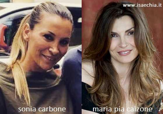 Somiglianza tra Sonia Carbone e Maria Pia Calzone