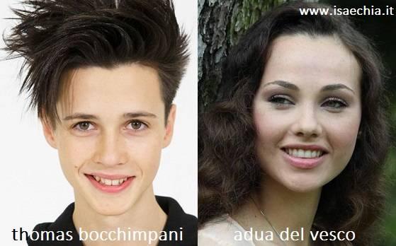 Somiglianza tra Thomas Bocchimpani e Adua Del Vesco