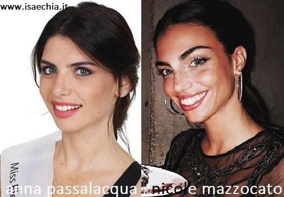 Somiglianza tra Anna Passalacqua e Nicole Mazzocato