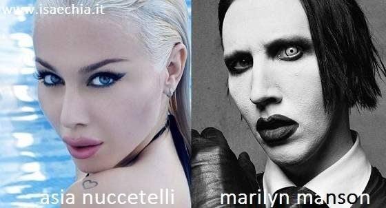 Somiglianza tra Asia Nuccetelli e Marilyn Manson