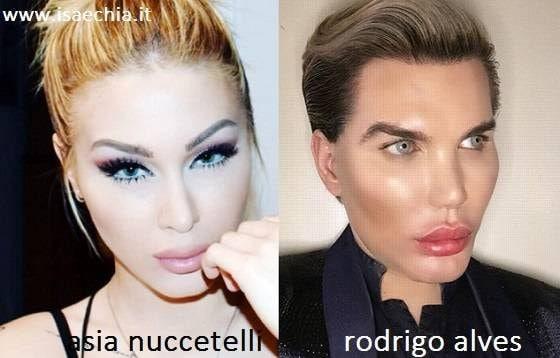 Somiglianza tra Asia Nuccetelli e Rodrigo Alves