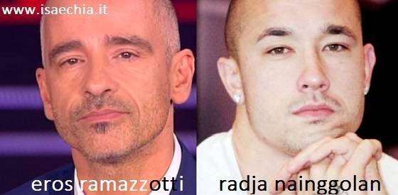 Somiglianza tra Eros Ramazzotti e Radja Naingolan