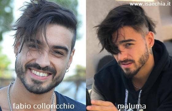 Somiglianza tra Fabio Colloricchio e Maluma