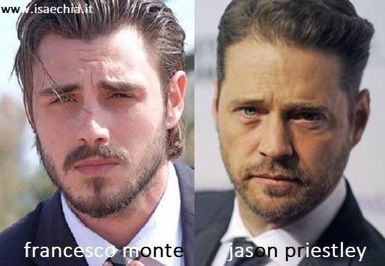 Somiglianza tra Francesco Monte e Jason Priestley
