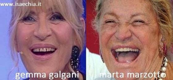Somiglianza tra Gemma Galgani e Marta Marzotto