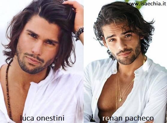 Somiglianza tra Luca Onestini e Renan Pacheco