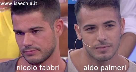 Somiglianza tra Nicolò Fabbri e Aldo Palmeri