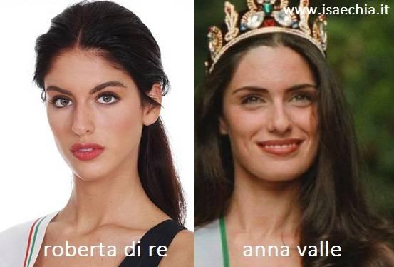 Somiglianza tra Roberta Di Re e Anna Valle