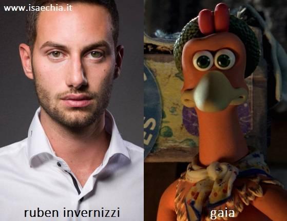Somiglianza tra Ruben Invernizzi e Gaia di 'Galline in fuga'