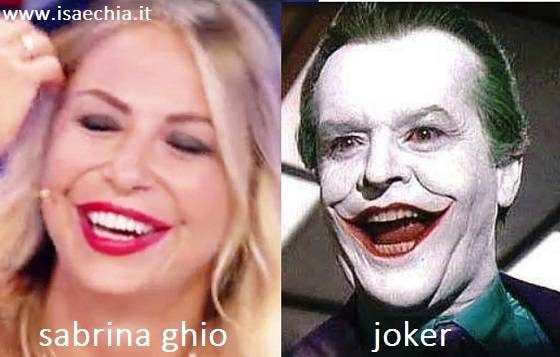 Somiglianza tra Sabrina Ghio e Joker