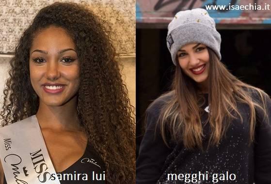 Somiglianza tra Samira Lui e Megghi Galo